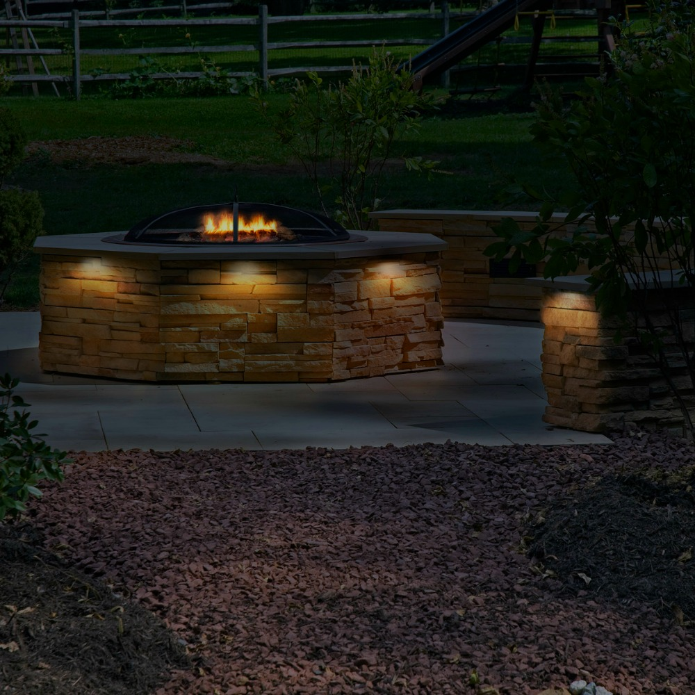 Integral Lighting Outdoor Fire Place