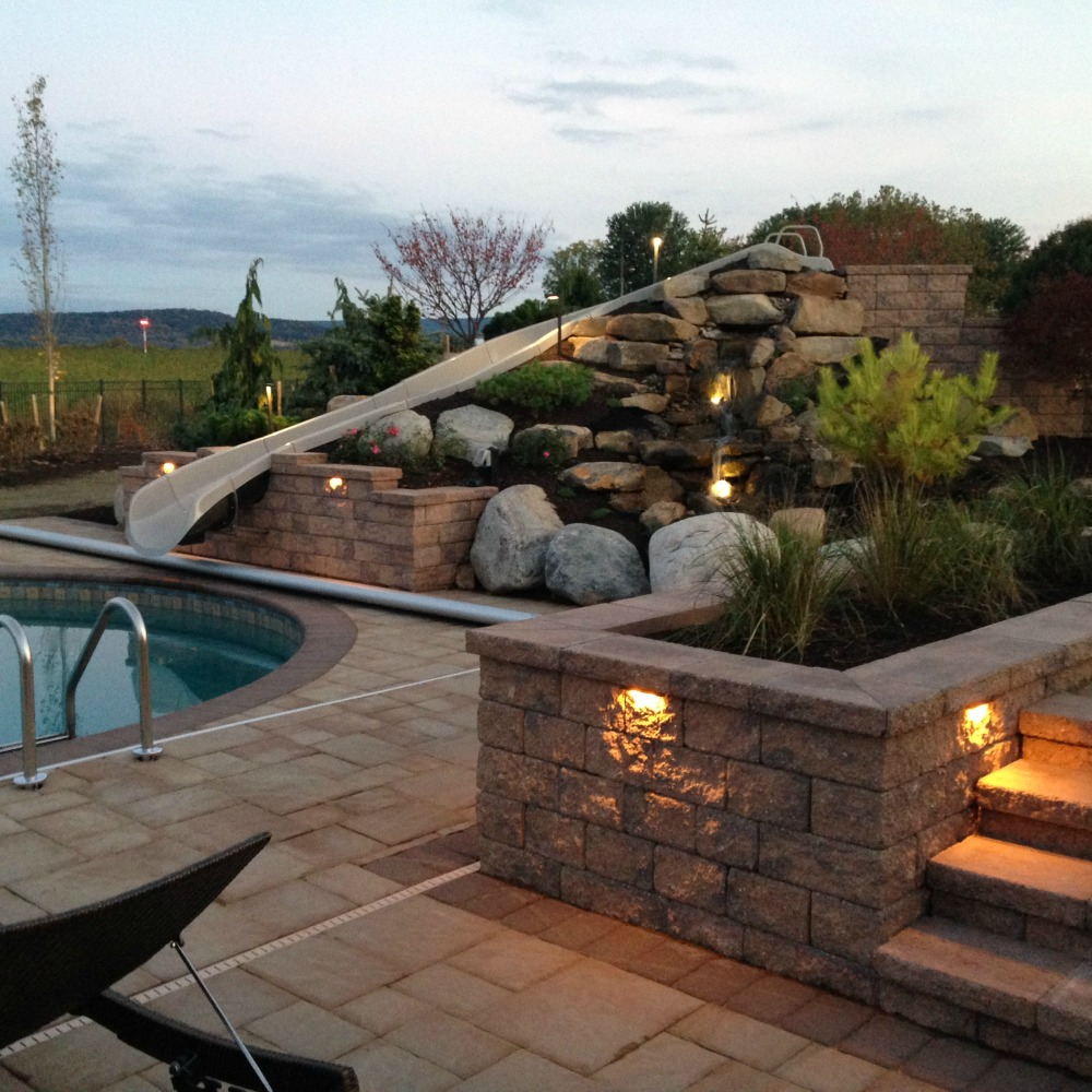 Integral Lighting Pool and Slide Lighting