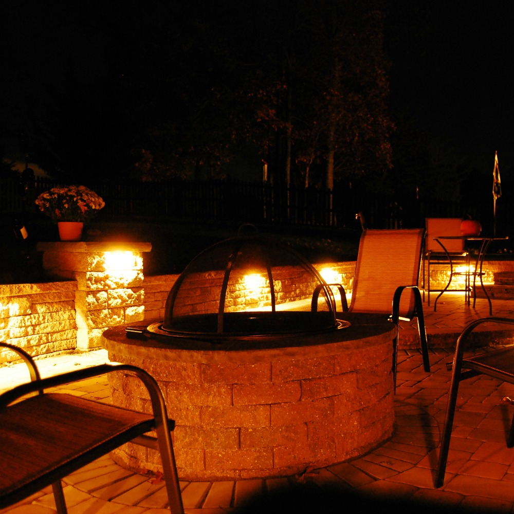 Integral Lighting Backyard Patio