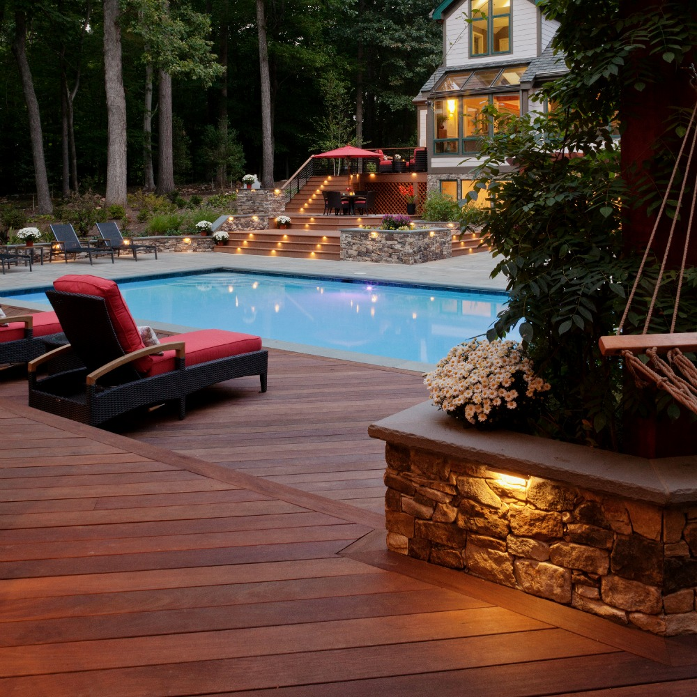 Integral Lighting Pool and Patio