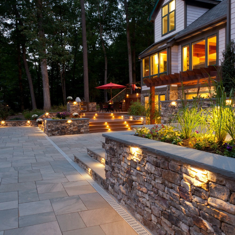 Integral Lighting Patio and Steps