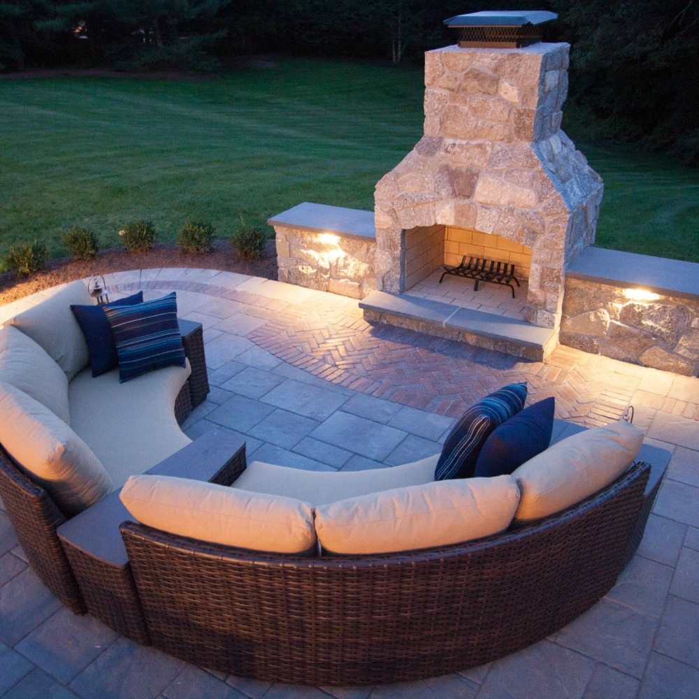 Integral Lighting Outdoor Seating Area